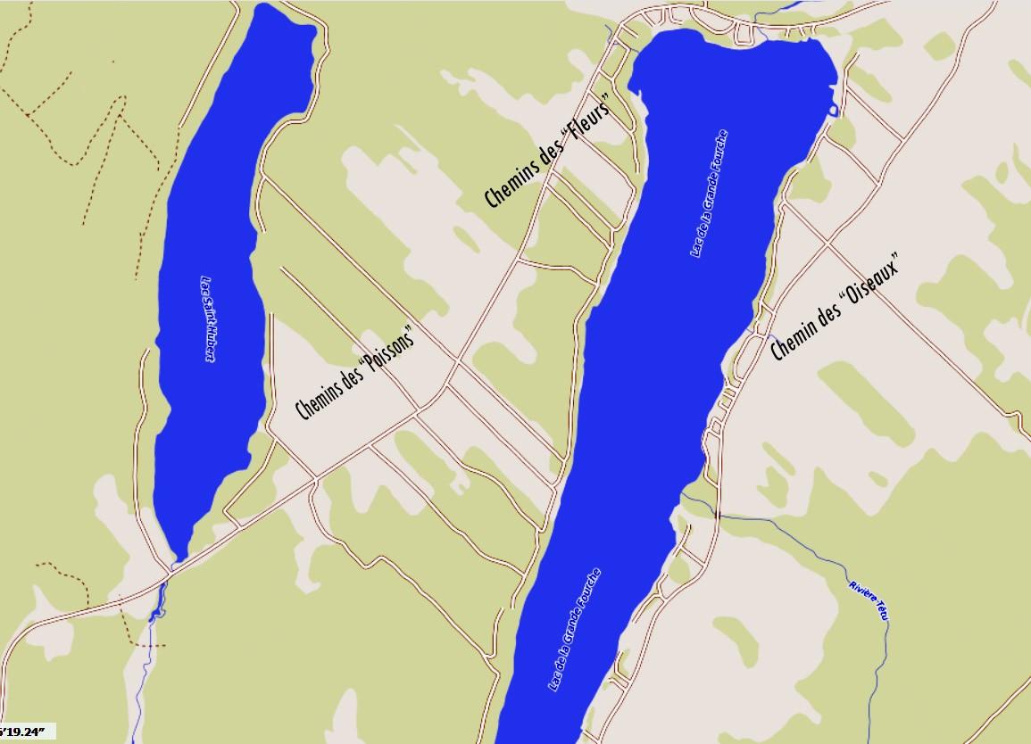Carte Chemins des Lacs GF et SH (Auteur : Josée Ouellet)