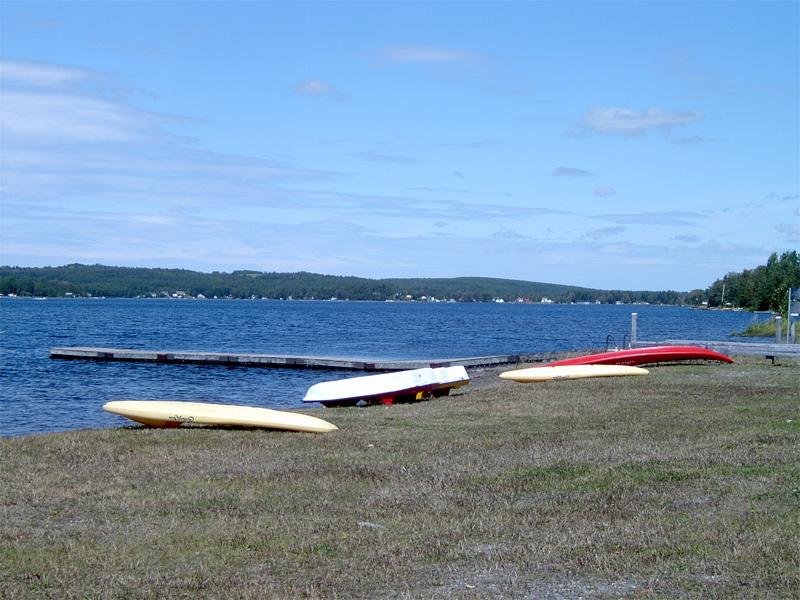 Plage municipale 2006 : Kayak et lac