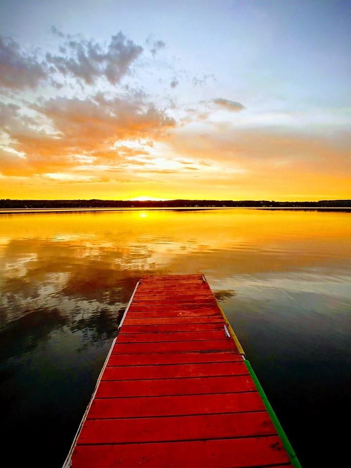 Lac Grande Fourche coucher de soleil (Auteur : Josée Ouellet)